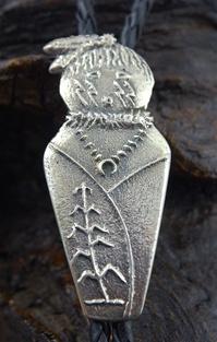 Beautiful Hand Crafted Tufa Cast Corn Maiden Bolo Tie
